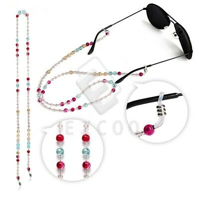 Glass Beaded Eyeglass Neck Strap Lanyard Cord Holder Bead Sunglasses 70cm YBEC1