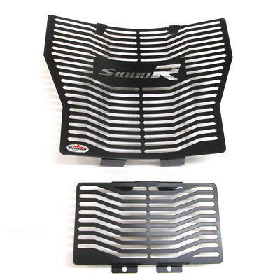 BMW S1000 R (14-16) Beowulf Stainless Steel Radiator & Oil Cooler Guards Black