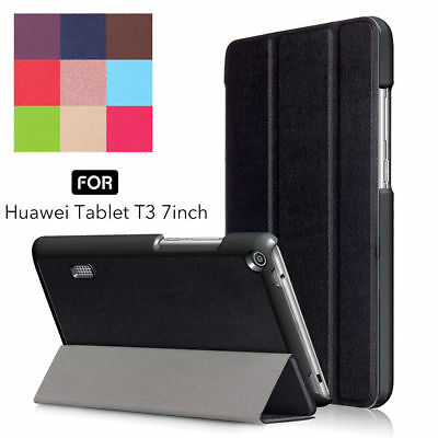 """For Huawei MediaPad T3 7.0"""" 8"""" 10"""" Tablet Smart Leather Case Stand Cover UK"""