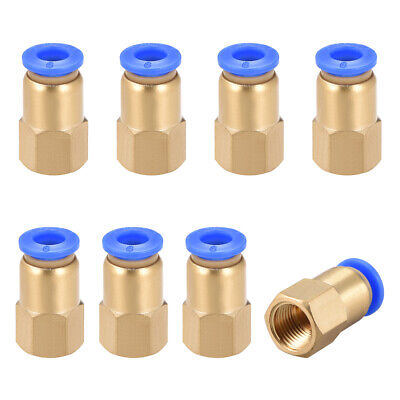 "Push to Connect Tube Fitting Adapter 6mm OD x G1/8"" Female 8pcs"