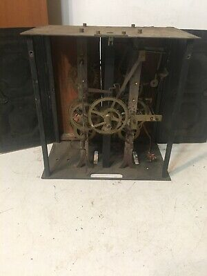 Antique French Morbier Wag On The Wall Clock Movement #2
