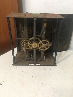 Antique French Morbier Wag On The Wall Clock Movement #3