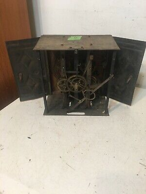 Antique French Morbier Wag On The Wall Clock Movement #4