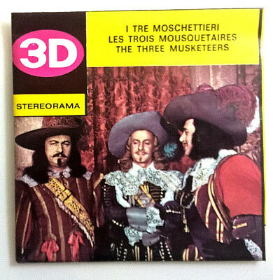 """3x STEREORAMA SCHEIBEN """" THE THREE MUSKETEERS """" TECHNOFILM VIEW MASTER Reel Pack"""