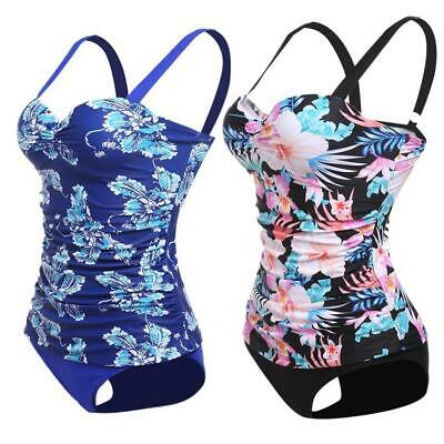 5c0da3198346b Women's Underwire Push Up Floral Print Tankini Set Bathing Suit Swimwear  RR6 01