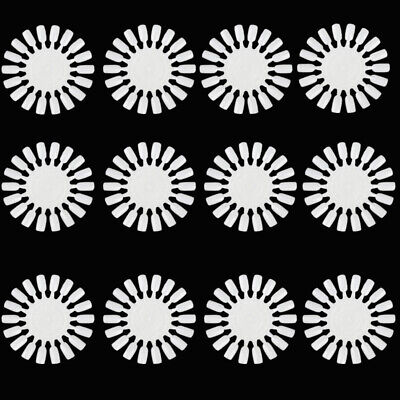 12 x Nail Art Tips Colour Pop Stick Display Fan Practice Starter Ring Wheel DIY
