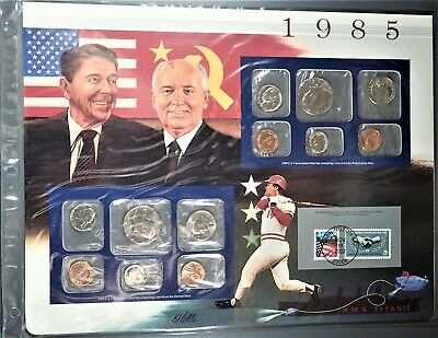 1985-P/D MINT UNCIRCULATED SET Postal Commemorative Society Coin/Stamp Page 8537