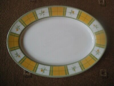 Marks & Spencer YELLOW ROSE Fine Porcelain 40 cm PLATTER / SERVING PLATE