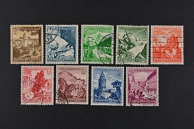 1938 Used German Stamps-Third Reich. Flowers of Austria
