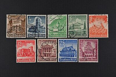 1940 Used German Stamps-Third Reich. Buildings of the Third Reich