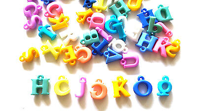 100 pcs Mix colors Assorted Alphabet Letter a b c Charms Beads Findings