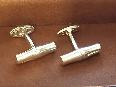 3854dadd88f GUCCI VINTAGE MARINE Anchor 925 Sterling Cufflinks Ultra Rare ...