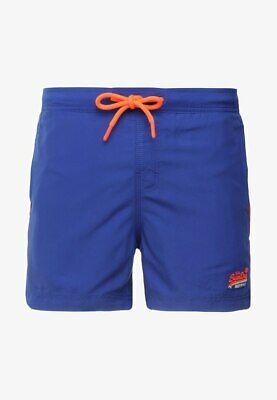 Superdry Beach Volley Swim Trunks Mens Large Blue Drawstring Waist Lined A98-10