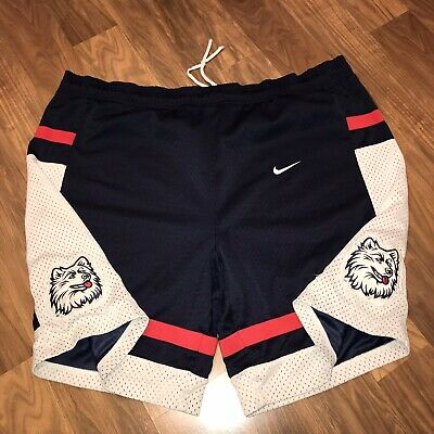 1bce338980f62 Authentic Nike CONNECTICUT HUSKIES Mens vtg Mesh Team UCONN Basketball  shorts