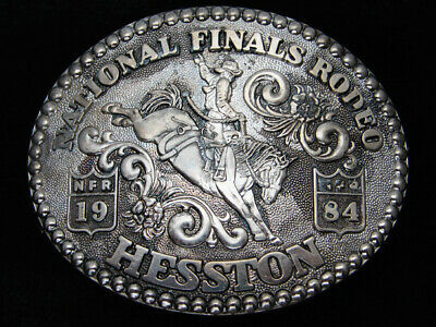 Qg21126 Used Nfr ***1984 National Finals Rodeo*** Hesston Collector Belt Buckle
