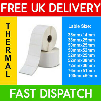 Lots of sizes Zebra Compatible Direct Thermal Labels GK420D Citizen