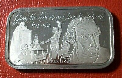 Give Me Liberty or Give Me Death Bar 1 oz.999 Fine Silver by Fleetwood Mint RARE