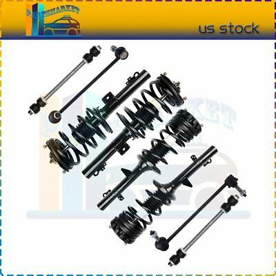 4PC Front Quick Install Struts and Coil Springs w//Front Sway Bar Links for 1999 2000 2001 2002 2003 2004 Honda Odyssey Detroit Axle