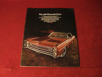 1968 Plymouth Fury Large Showroom Dealership Sales Brochure Original Old