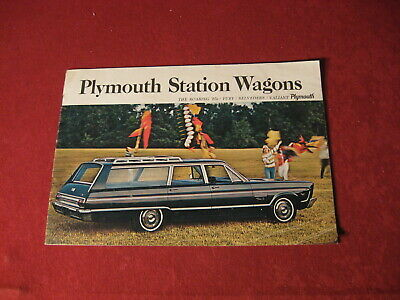 1965 Plymouth Station Wagon Dealer Sales Dealership Brochure Booklet Catalog Old