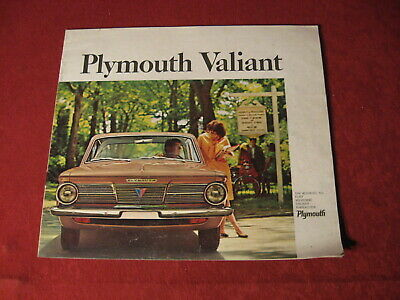 1965 Plymouth Valiant Dealer Sales Dealership Brochure Booklet Catalog Old
