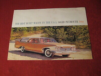 1960 Plymouth Station Wagon Sales Brochure Booklet Catalog Book Original Old
