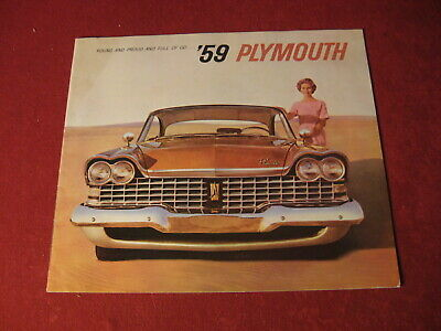 1959 Plymouth Dealer Sales Brochure Booklet Catalog Book Original Old Mopar
