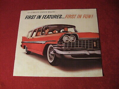 1959 Plymouth Station Wagon Sales Brochure Booklet Catalog Book Original Old