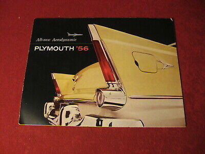 1956 Plymouth Large Sales Brochure Booklet Catalog Book Original Old Mopar