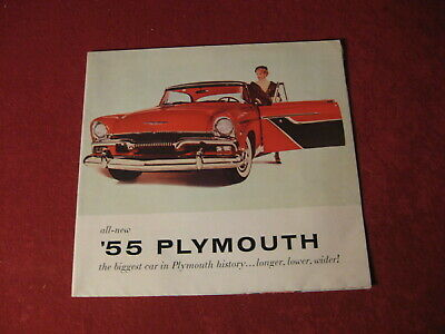 1955 Plymouth Dealership Salesman Showroom Brochure Booklet Old Original Vintage