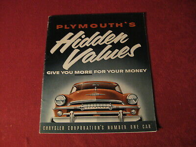 1954 Plymouth Showroom Sales Dealership Brochure Original Old Catalog Book