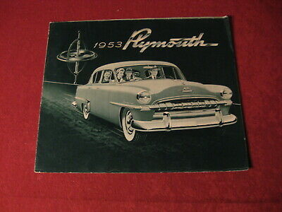 1953 Plymouth Sales Showroom Dealership Brochure Booklet Catalog Old