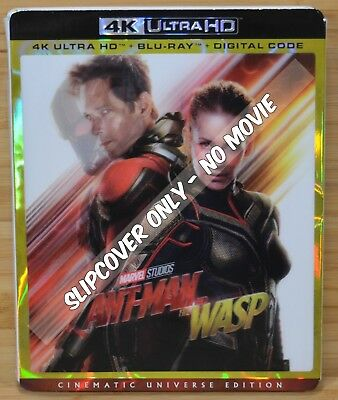 ANT MAN AND THE WASP Lenticular 4K UHD Blu-ray Slipcover (NO MOVIE DISC)