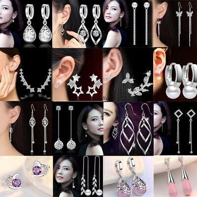 Stamped 925 Solid Sterling Silver Brand Ear Wire For Earrings Wholesale FINE EDH