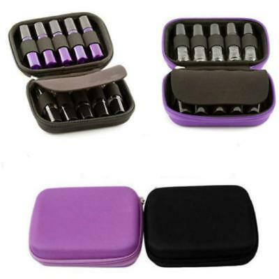 Portable 10 Roller Bottles 10ml Essential Oil Case Storage Aromatherapy Bag YO
