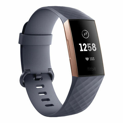 Fitbit Charge 3 Rose Gold Blue Grey