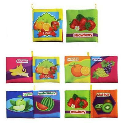Cloth Baby Intelligence Development Learn Picture Cognize Book Toy BS