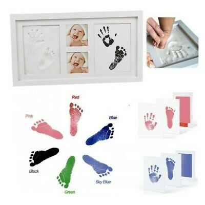 Baby Hand and Foot Print Kit with Photo Frame Newborn Unique Keepsake Gifts