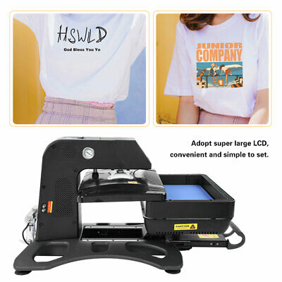 Heat Press 3D Sublimation Transfer Printing Machine T-Shirt Hat Cap DIY AU Plug