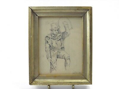 Antique 19th century pencil drawing of a gentleman by Samuel Bradshaw 1832