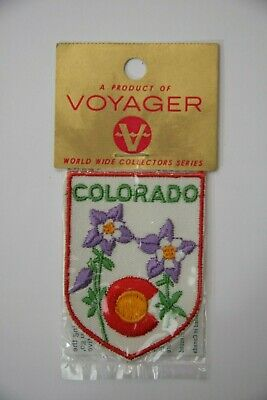 Ecusson Brode Embroidered Patch Colorado  Voyager Emblems Enveloppe Originale