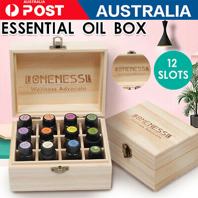 doTERRA 85Slot Essential Oil Storage Box Wooden Aromatherapy Container Organiser