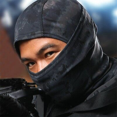Tactical Outdoor Quick-Drying Full Face Mask Balaclava Hood Hat Airsoft Hunting