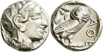 Greece Greek Attica Athens Silver Tetradrachm Athena Owl Ancient Authentic Coin