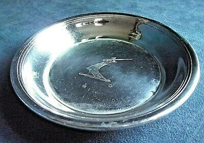 SUPERB ~ SILVER Plated ~ Family CRESTED ~ Pip DISH ~ c1900