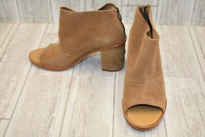 73915d2a1ac UGG GINGER PEEP Toe Booties - Women's Size 8.5 - Chestnut NEW!