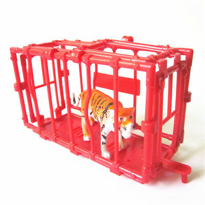 11CM Plastic Animal Fence Four Sides Disassembled Cage model Accessories cb