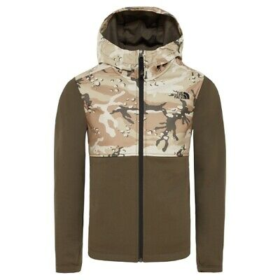 The North Face Kickin It Hoodie Boy New Taupe Green T93S3V 21L/