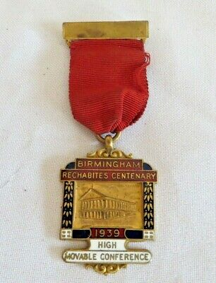 1939 Birmingham Rechabites Centenary High Movable Conference Jewel (26C)
