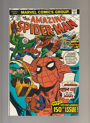 Amazing Spider-Man # 150  Web-Head's Wondrous 150th !  grade 9.4 scarce book !